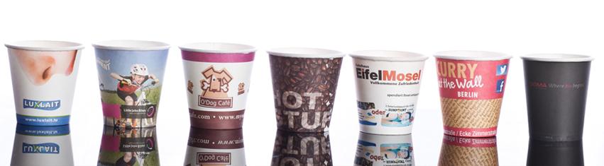kubki papierowe z logo